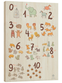 Stampa su legno  Animal numbers for the nursery - Petit Griffin