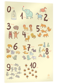Vetro acrilico  Zoological numbers for nursery - Petit Griffin
