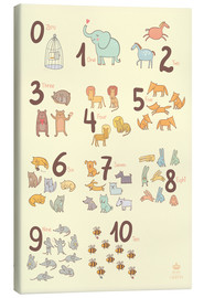 Tela  Zoological numbers for nursery - Petit Griffin