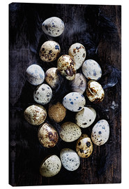Stampa su tela  Quail eggs on Ebony - K&L Food Style