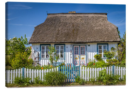 Stampa su tela  Thatched cottage on the Baltic Sea - Christian Müringer
