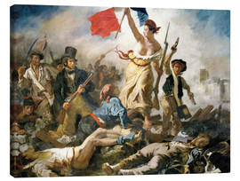 Tela  Liberty leading the people - Eugene Delacroix