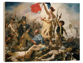 Legno  Liberty leading the people - Eugene Delacroix