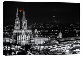 Stampa su tela  Blutmond over the Cologne Cathedral - rclassen