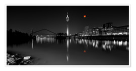 Poster  Dusseldorf media harbor with Blutmond - rclassen