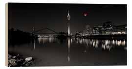 Stampa su legno  Dusseldorf media harbor with Blutmond - rclassen