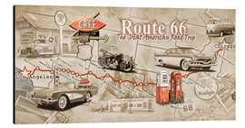 Alluminio Dibond  Route 66 Map - Georg Huber