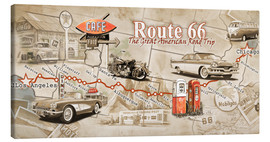 Tela  Route 66 Map - Georg Huber