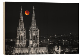 Stampa su legno  Blood Red Moon Cologne Cathedral - rclassen