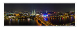 Poster  Cologne Night skyline panorama - rclassen