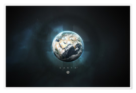 Poster Premium  Solar System Earth - Tobias Roetsch