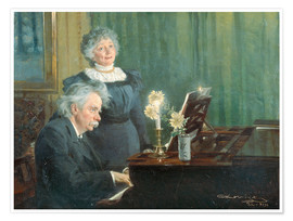 Poster Premium  Edvard Grieg and his wife - Peder Severin Krøyer