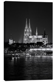Stampa su tela  Cologne Cathedral at night - rclassen