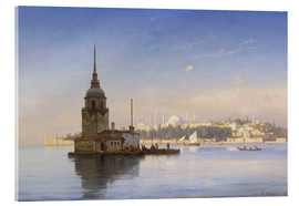 Stampa su vetro acrilico  The Maiden's Tower (Maiden Tower) with Istanbul in the background - Carl Neumann
