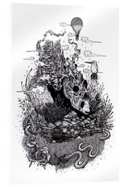 Stampa su vetro acrilico  Land of the Sleeping Giant (Ink) - Mat Miller