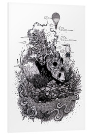 Stampa su schiuma dura  Land of the Sleeping Giant (Ink) - Mat Miller