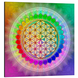Alluminio Dibond  Flower of Life - Rainbow Lotus Artwork II - Dirk Czarnota