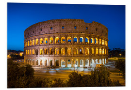 Stampa su schiuma dura  Colosseum in Rome at night - Jan Christopher Becke