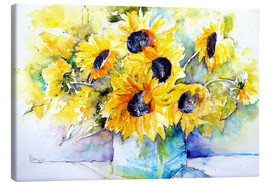 Tela  Sunflowers in Vase - Brigitte Dürr