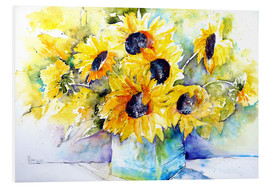 Forex  Sunflowers in Vase - Brigitte Dürr