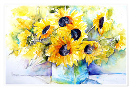Poster  Sunflowers in Vase - Brigitte Dürr