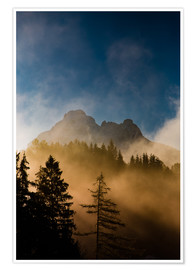 Poster Premium Foggy Morning in the Alps