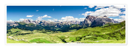 Poster Premium Seiser Alm panoramic view, South Tyrol
