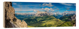 Stampa su legno  The Dolomites in South Tyrol, panoramic view - Sascha Kilmer