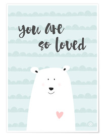 Poster Premium  You are so loved - Verde menta - m.belle
