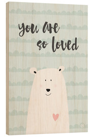 Legno  You are so loved - Verde menta - m.belle