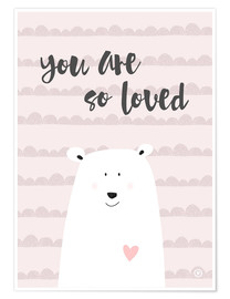 Poster  you are so loved rose - m.belle