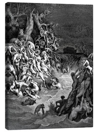 Stampa su tela  The world will be destroyed by water - Gustave Doré