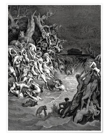 Poster Premium  The world will be destroyed by water - Gustave Doré