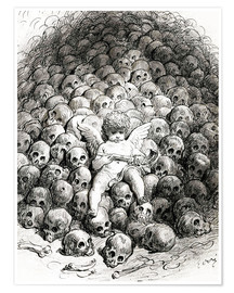 Poster  Love reflects on Death - Gustave Doré