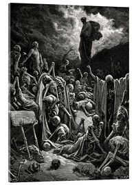Stampa su vetro acrilico  The Vision of The Valley of The Dry Bones - Gustave Doré