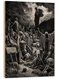 Stampa su legno  The Vision of The Valley of The Dry Bones - Gustave Doré
