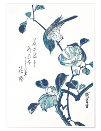 Poster Premium Camellia and Bird