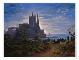 Poster Premium Gothic church on a cliff by the sea