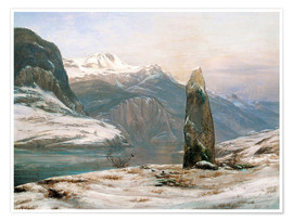 Poster Premium winter at the sognefjord