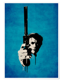 Poster Premium  Clint Eastwood - Dirty Harry - Durro Art