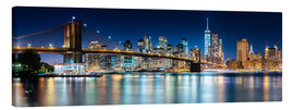 Tela  New York City Skyline with Brooklyn Bridge (panoramic view) - Sascha Kilmer