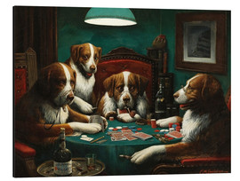 Alluminio Dibond  The poker game - Cassius Marcellus Coolidge