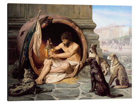 Alluminio Dibond  Diogenes in his barrel - Jean Leon Gerome