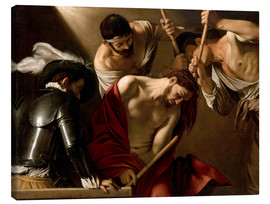Stampa su tela  The Crowning with Thorns - Michelangelo Merisi (Caravaggio)
