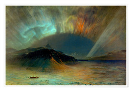 Poster Premium  Northern lights - Frederic Edwin Church