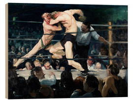 Stampa su legno  Stag at Sharkey's - George Wesley Bellows