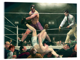 Vetro acrilico  Dempsey and Firpo - George Wesley Bellows