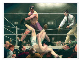 Poster Premium  Dempsey and Firpo - George Wesley Bellows