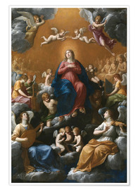 Poster Premium Coronation of the Virgin