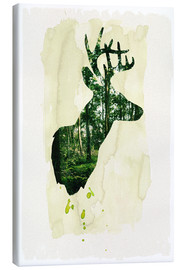Stampa su tela  The stag - Sybille Sterk